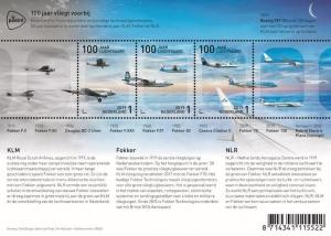 Postzegels 100 jaar KLM