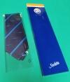 Stropdas Fokker, blauwe streep in geschenkverpakking